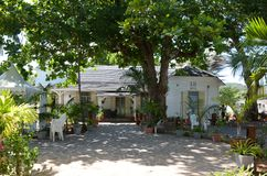 Creools huis in Haven Mathurin, Rodrigues Island, Mauritius Royalty-vrije Stock Foto