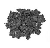 Creosote removed from Wood Stove Chimney. Pile of Creosote accumulation that was removed from a Wood Stove Chimney during Stove Pipe Cleaning Stock Photography