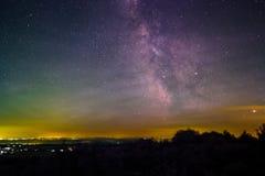 Crepúsculo astronómico Fotos de archivo libres de regalías