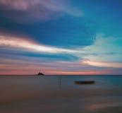 Crepúsculo azul rojo Fotos de archivo