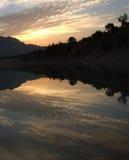 Crepúsculo, cenário da cidade natal Foto de Stock Royalty Free