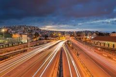 Crepúsculo de Faliro, Piraeus Fotos de Stock