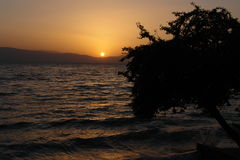 Crepúsculo de la playa Fotos de archivo libres de regalías