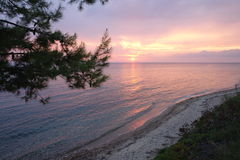 Crepúsculo de la playa Imagen de archivo
