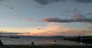 Crepúsculo de la playa Fotos de archivo