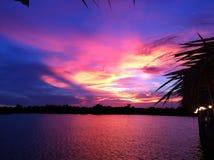 Crepúsculo de la tarde imagenes de archivo