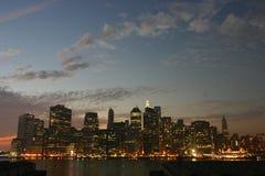 Crepúsculo de Manhattan Imagens de Stock