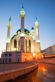 Crepúsculo de mayo en la mezquita de Kul-Sharif Kazan, Rusia Fotos de archivo libres de regalías