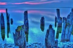 Crepúsculo de Michigan Imagen de archivo