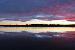 Crepúsculo de outubro fotografia de stock royalty free