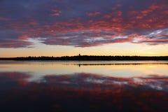 Crepúsculo de outubro foto de stock