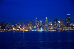 Crepúsculo de Seattle Foto de archivo