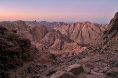Crepúsculo de Sinai fotos de stock royalty free