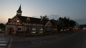 Crepúsculo de Solvang Califórnia video estoque