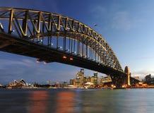 Crepúsculo de Sydney Fotos de archivo libres de regalías