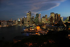 Crepúsculo de Sydney Fotos de Stock Royalty Free