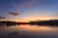 Crepúsculo de Tailândia Foto de Stock Royalty Free
