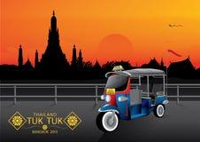 Crepúsculo de Tuk Tuk Tailândia Banguecoque Fotos de Stock