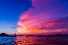 Crepúsculo de Victoria Harbour, Hong Kong Imagenes de archivo