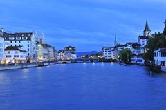 Crepúsculo de Zurique Foto de Stock