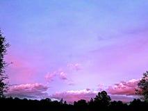 Crepúsculo del caramelo de algodón fotografía de archivo