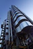 Crepúsculo del edificio de Lloyds Imagen de archivo libre de regalías