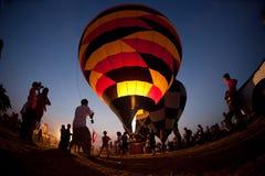 Crepúsculo del globo Imagen de archivo libre de regalías