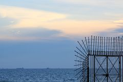 Crepúsculo del mar Imagen de archivo libre de regalías