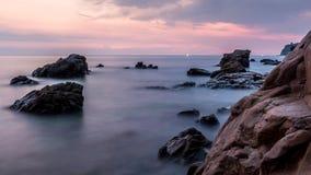 Crepúsculo del mar del silencio Foto de archivo libre de regalías