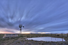 Crepúsculo del molino de viento Fotografía de archivo