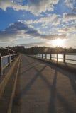 Crepúsculo del puente Fotografía de archivo