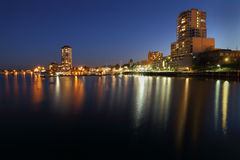 Crepúsculo del puerto de Nanaimo, Columbia Británica Imagen de archivo libre de regalías