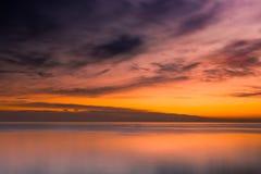 Crepúsculo del río Foto de archivo libre de regalías