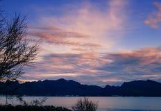 Crepúsculo do beira-mar Imagem de Stock