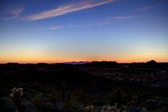 Crepúsculo do deserto Imagem de Stock