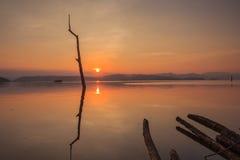Crepúsculo do tempo do lago Foto de Stock Royalty Free