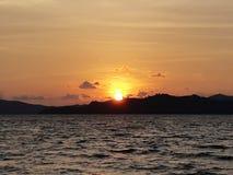 Crepúsculo e por do sol Imagens de Stock