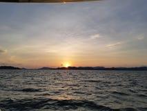Crepúsculo e por do sol Foto de Stock
