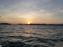 Crepúsculo e por do sol Imagem de Stock