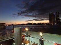 Crepúsculo em Banguecoque Fotografia de Stock Royalty Free