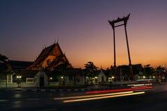 Crepúsculo em Banguecoque Tailândia Foto de Stock