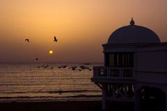 Crepúsculo em Cadiz Imagem de Stock