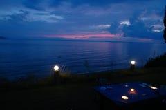 Crepúsculo em Grécia imagens de stock royalty free