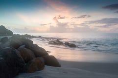 Crepúsculo em St Lucia fotografia de stock
