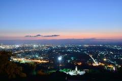 Crepúsculo en el punto de vista Fotografía de archivo