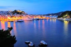 Crepúsculo en Grecia Imagen de archivo libre de regalías
