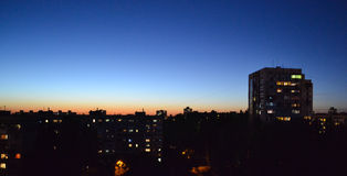 Crepúsculo en la ciudad Fotos de archivo libres de regalías