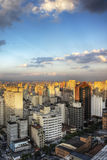 Crepúsculo en Sao Paulo Imagen de archivo libre de regalías