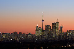 Crepúsculo en Toronto Imagen de archivo