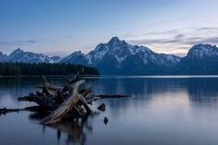Crepúsculo magnífico de Teton Fotografía de archivo libre de regalías